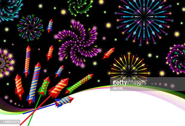 salute firework - flare stack stock illustrations, clip art, cartoons, & icons