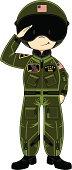 USAF Saluting Pilot in Helmet