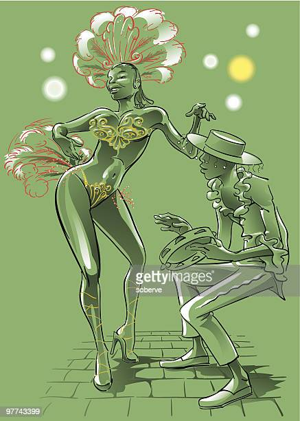 samba dancer - samba dancing stock illustrations, clip art, cartoons, & icons