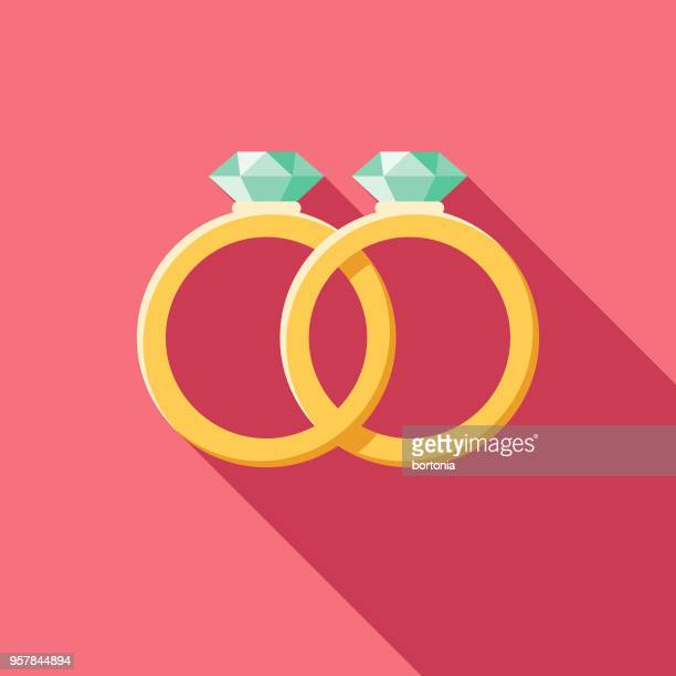 same sex marriage flat design wedding icon - homosexual couple stock illustrations