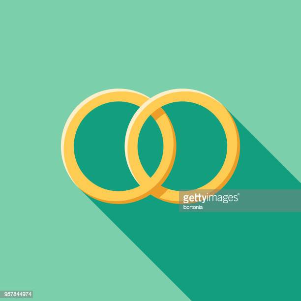 同じセックス結婚フラットなデザインの結婚式のアイコン - 同性愛者点のイラスト素材/クリップアート素材/マンガ素材/アイコン素材