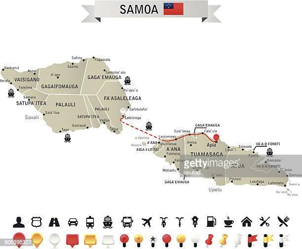 samoa - samoa stock illustrations, clip art, cartoons, & icons
