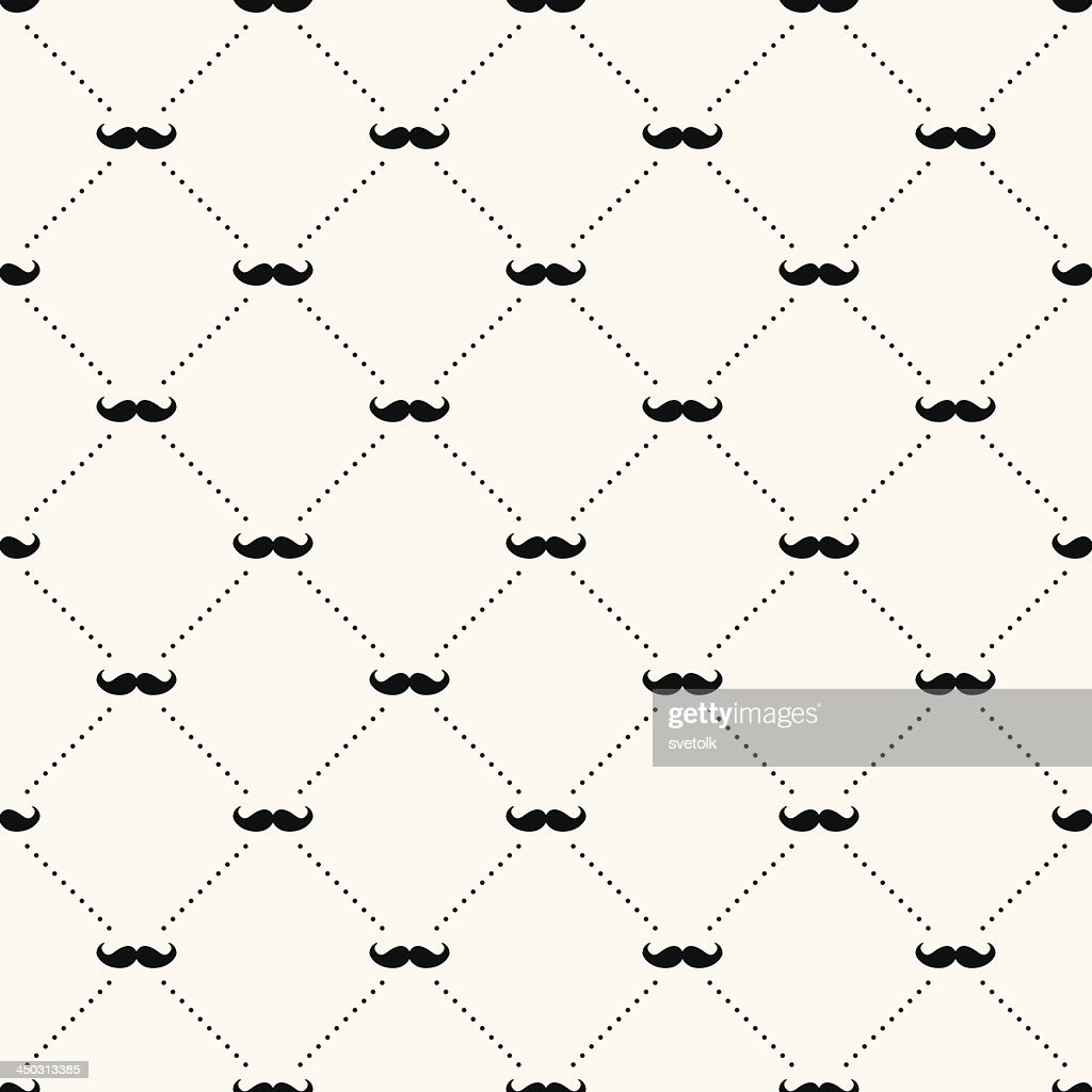 A sample background of a retro pattern of a mustache