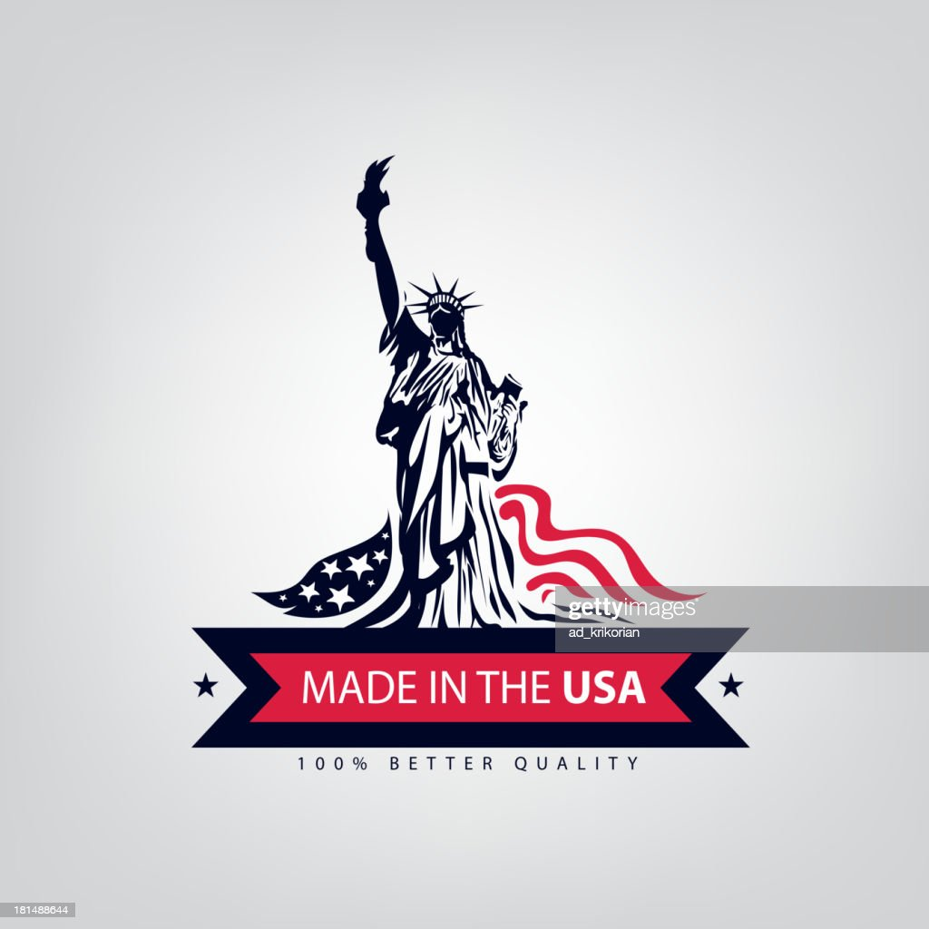 A sample illustration for Made in USA with the Lady Liberty