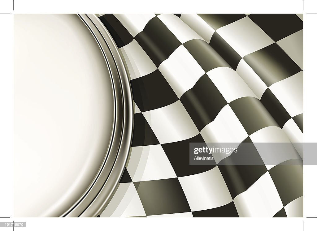 A sample layout of a black and white checkered background