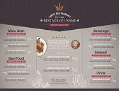 A sample restaurant menu template background