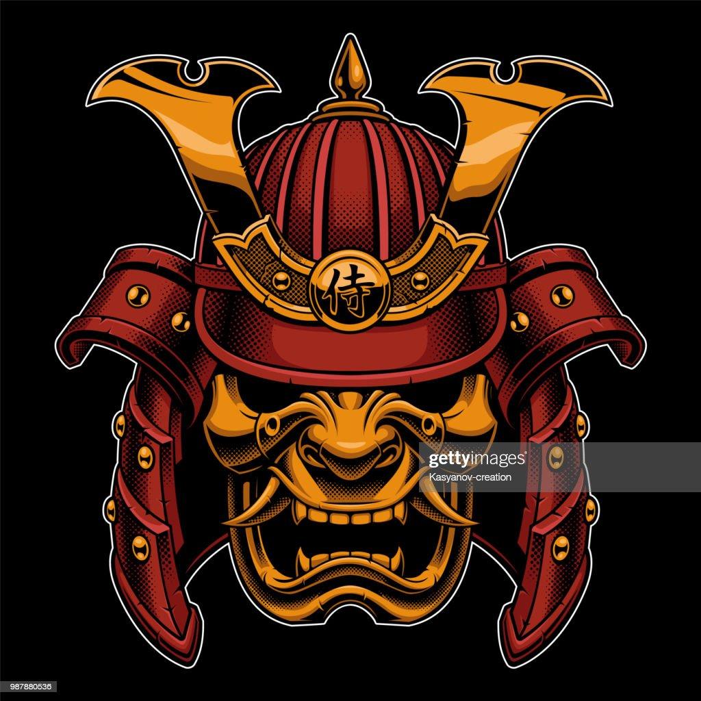Samurai colorfull illustration