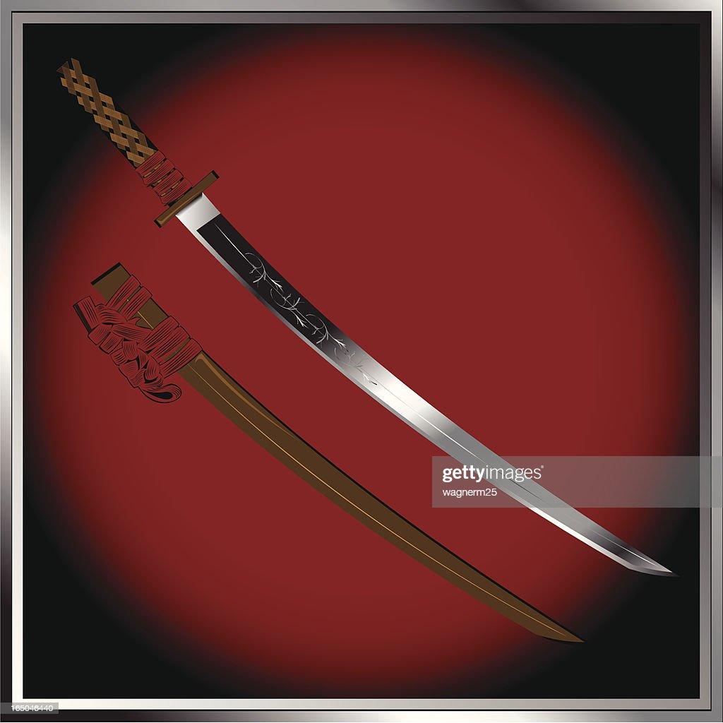 Samurai katana and case