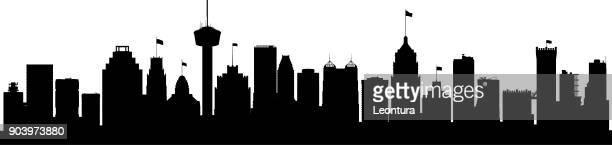 サン ・ アントニオ (すべての建物が完成し可動) - テキサス州サンアントニオ点のイラスト素材/クリップアート素材/マンガ素材/アイコン素材