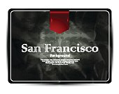 San Francisco background-greeting card-vintage