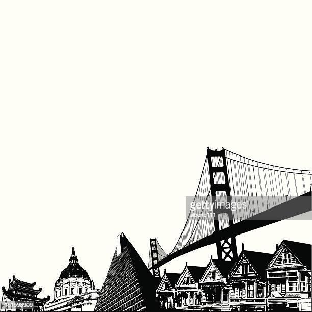 san francisco-gebäude - amerikanische kontinente und regionen stock-grafiken, -clipart, -cartoons und -symbole