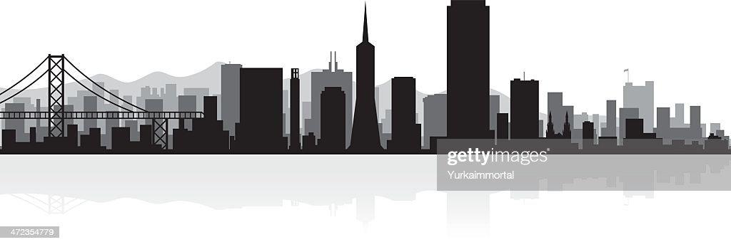 San Francisco city skyline silhouette