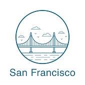 San Francisco Golden Gate Bridge.