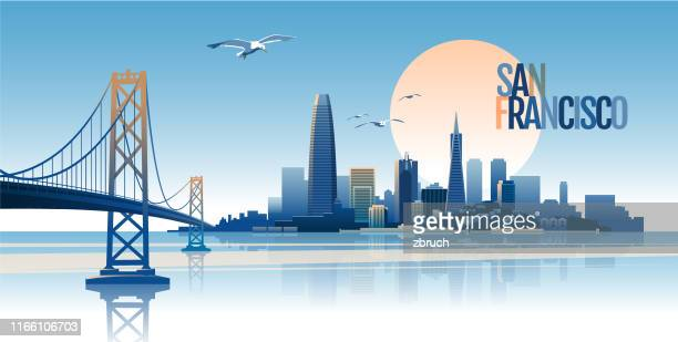 san francisco skyline - skyline stock illustrations