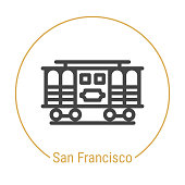 San Francisco, United States Vector Line Icon