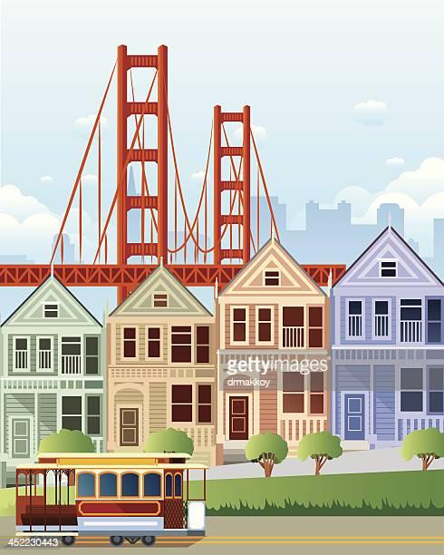 san francisco - san francisco california stock illustrations