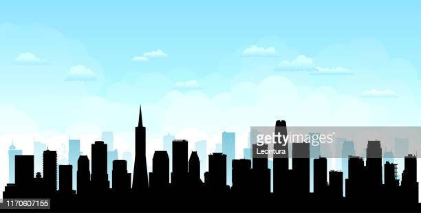 san fransisco (all buildings are complete and moveable) - san francisco california stock illustrations