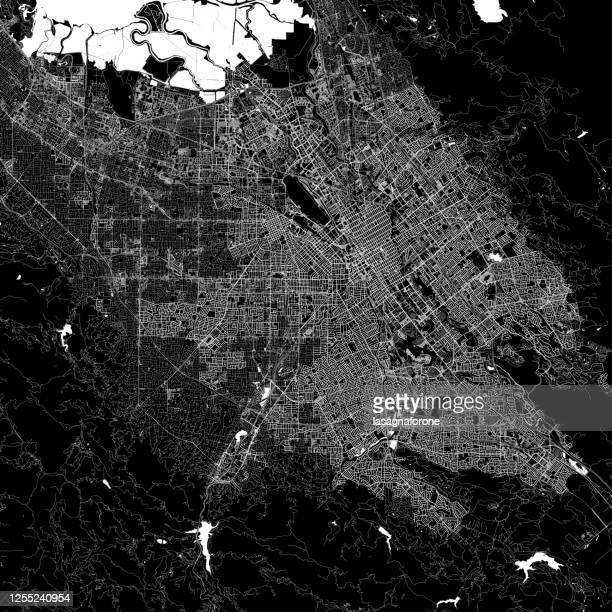 san jose, california, united states of america vector map - san francisco california stock illustrations