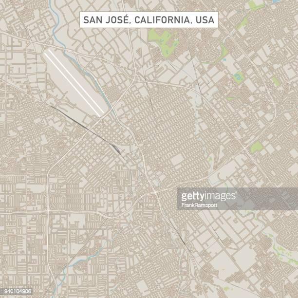サン ホセ カリフォルニア米国街マップ - サンノゼ点のイラスト素材/クリップアート素材/マンガ素材/アイコン素材