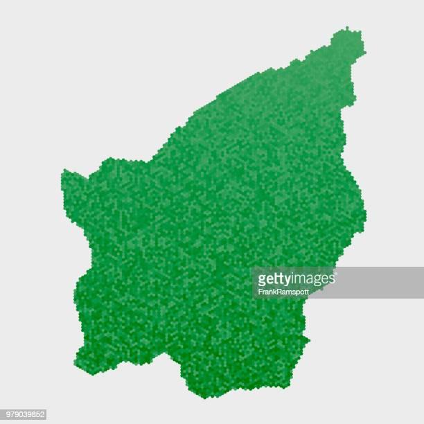 San Marino Land Map grünen Sechseck-Muster
