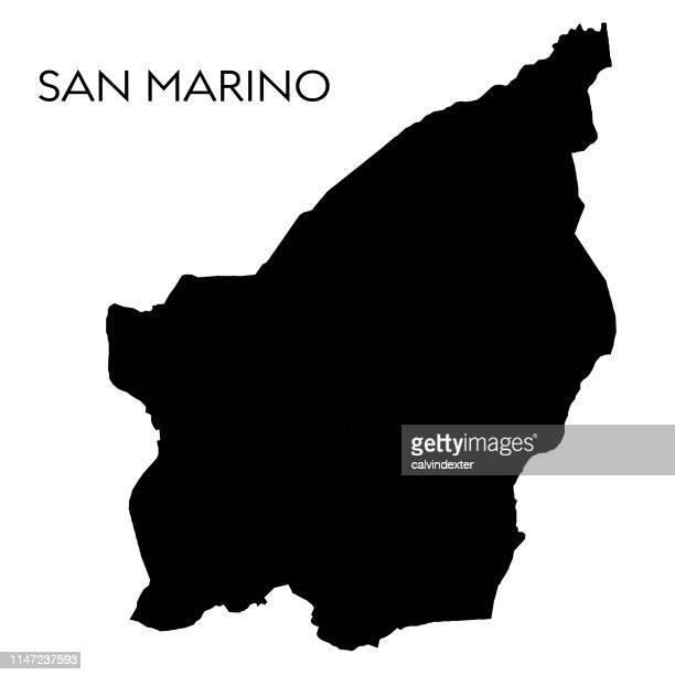 san marino map - republic of san marino stock illustrations