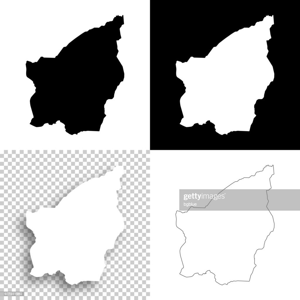San Marino Maps For Design Blank White And Black Backgrounds Vector ...