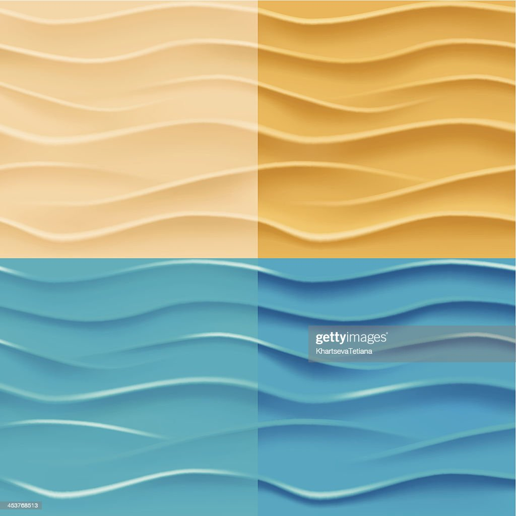 Sand and water background.