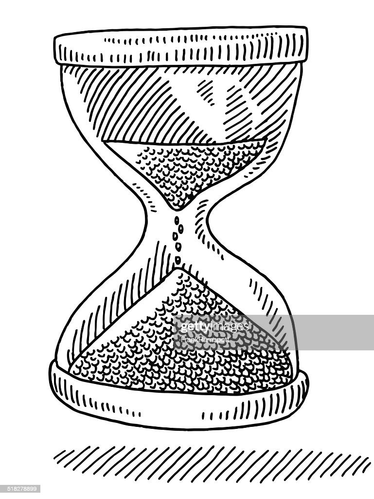sand glass time symbol drawing vector art getty images Antique Hourglass sand glass time symbol drawing vector art