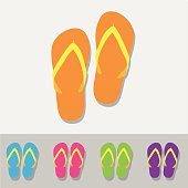 sandal icons set great for any use. Vector EPS10.