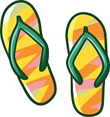 Sandals in cartoon style.