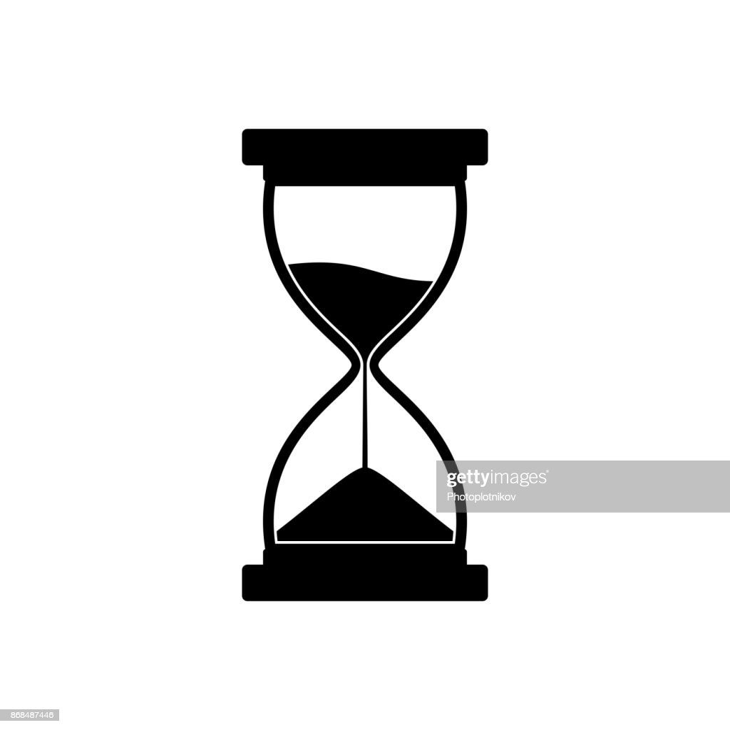 Sandglass icon isolated on white background. Time hourglass. Sandclock