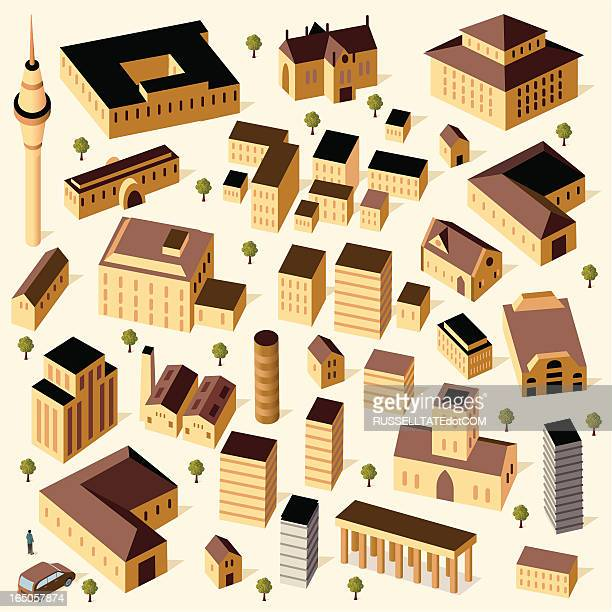 sandstone buildings and car - sandstone stock illustrations, clip art, cartoons, & icons