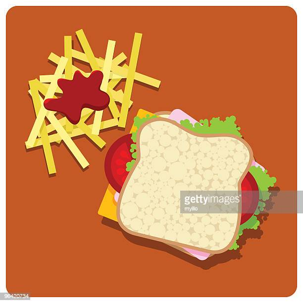 sandwich club - cheddar cheese stock illustrations, clip art, cartoons, & icons
