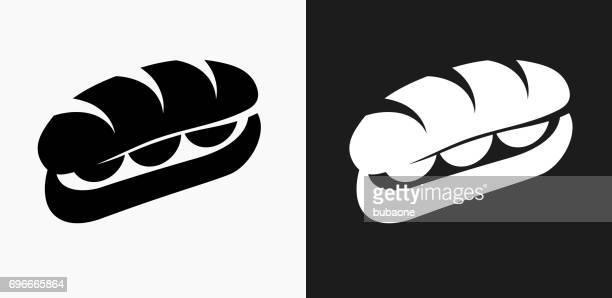 Sandwich-Symbol auf schwarz-weiß-Vektor-Hintergründe