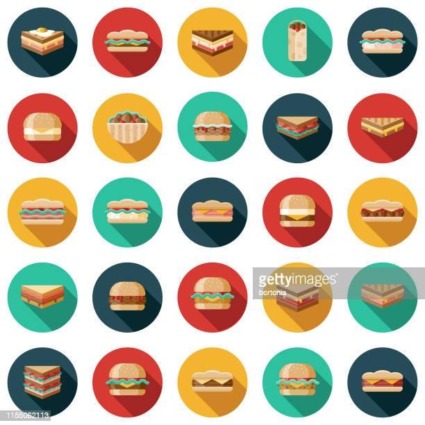 ilustrações, clipart, desenhos animados e ícones de jogo do ícone do sanduíche - sanduíche