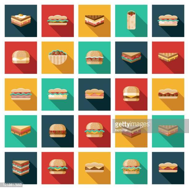 サンドイッチアイコンセット - ローストビーフ点のイラスト素材/クリップアート素材/マンガ素材/アイコン素材