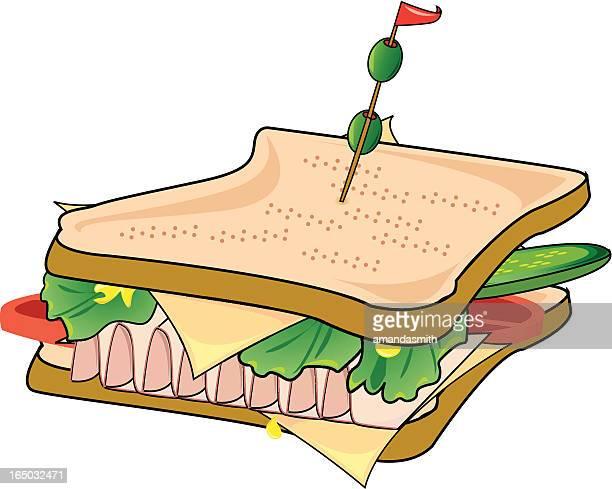 sandwich! - bologna stock illustrations, clip art, cartoons, & icons