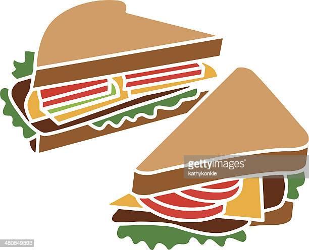 サンドイッチ - ローストビーフ点のイラスト素材/クリップアート素材/マンガ素材/アイコン素材