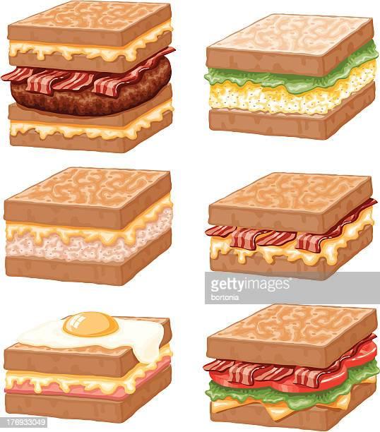 Sandwiches Icon Set