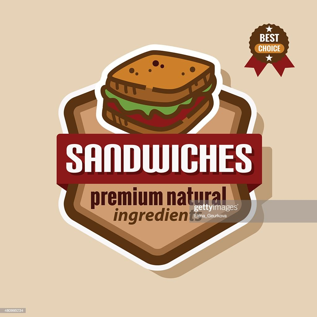 sandwiches label