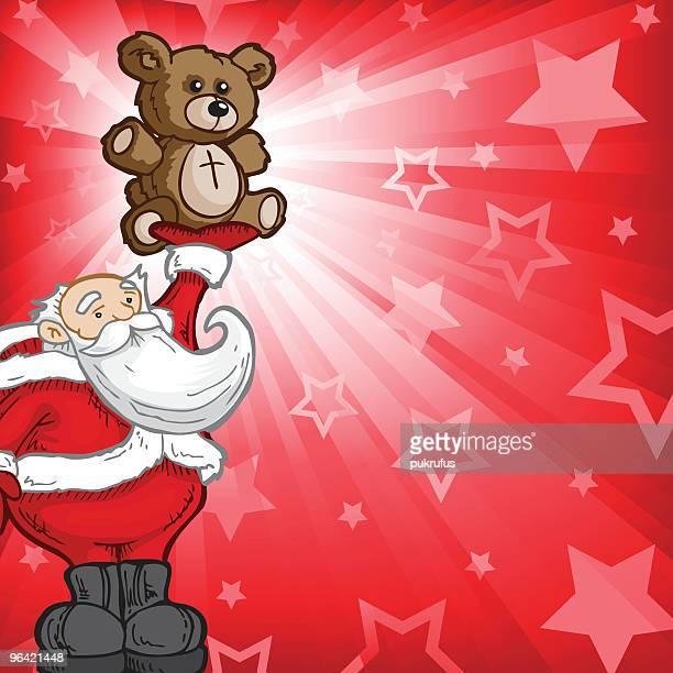 Santa Bear Burst