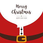 santa beard merry christmas gretting text