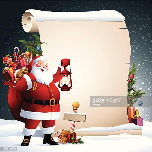 サンタクリスマスのスクロール