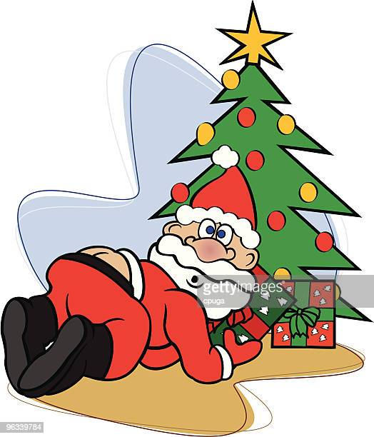santa claus caught in the act - buttocks stock illustrations, clip art, cartoons, & icons