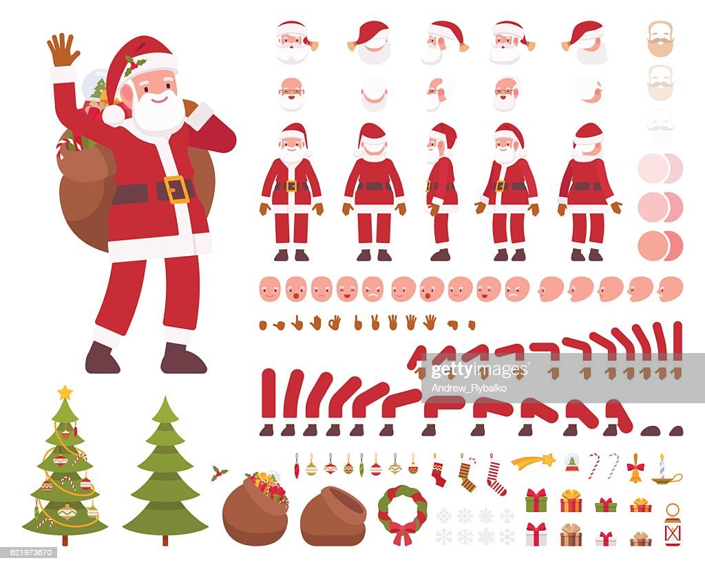 Santa Claus character creation set