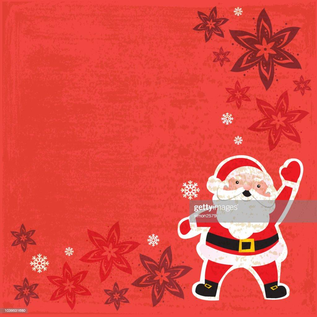 Santa Claus Christmas Card Vector Art | Getty Images