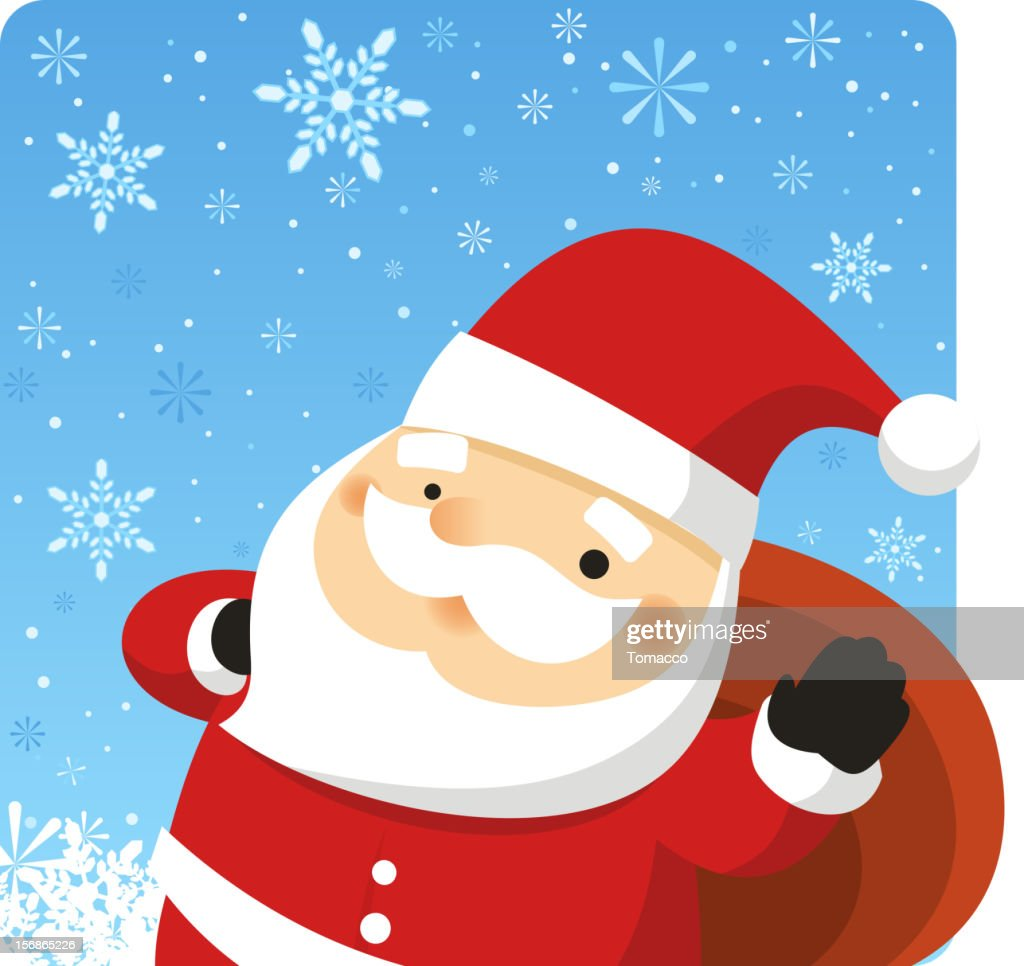 Babbo Natale nella neve Design : Arte vettoriale