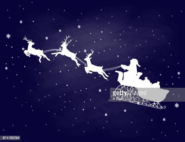 サンタ クロース クリスマスの精神 - 手綱点のイラスト素材/クリップアート素材/マンガ素材/アイコン素材
