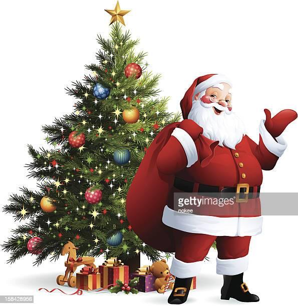 サンタクロース-クリスマスツリー