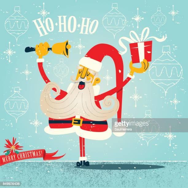santa claus christmas - updo stock illustrations, clip art, cartoons, & icons